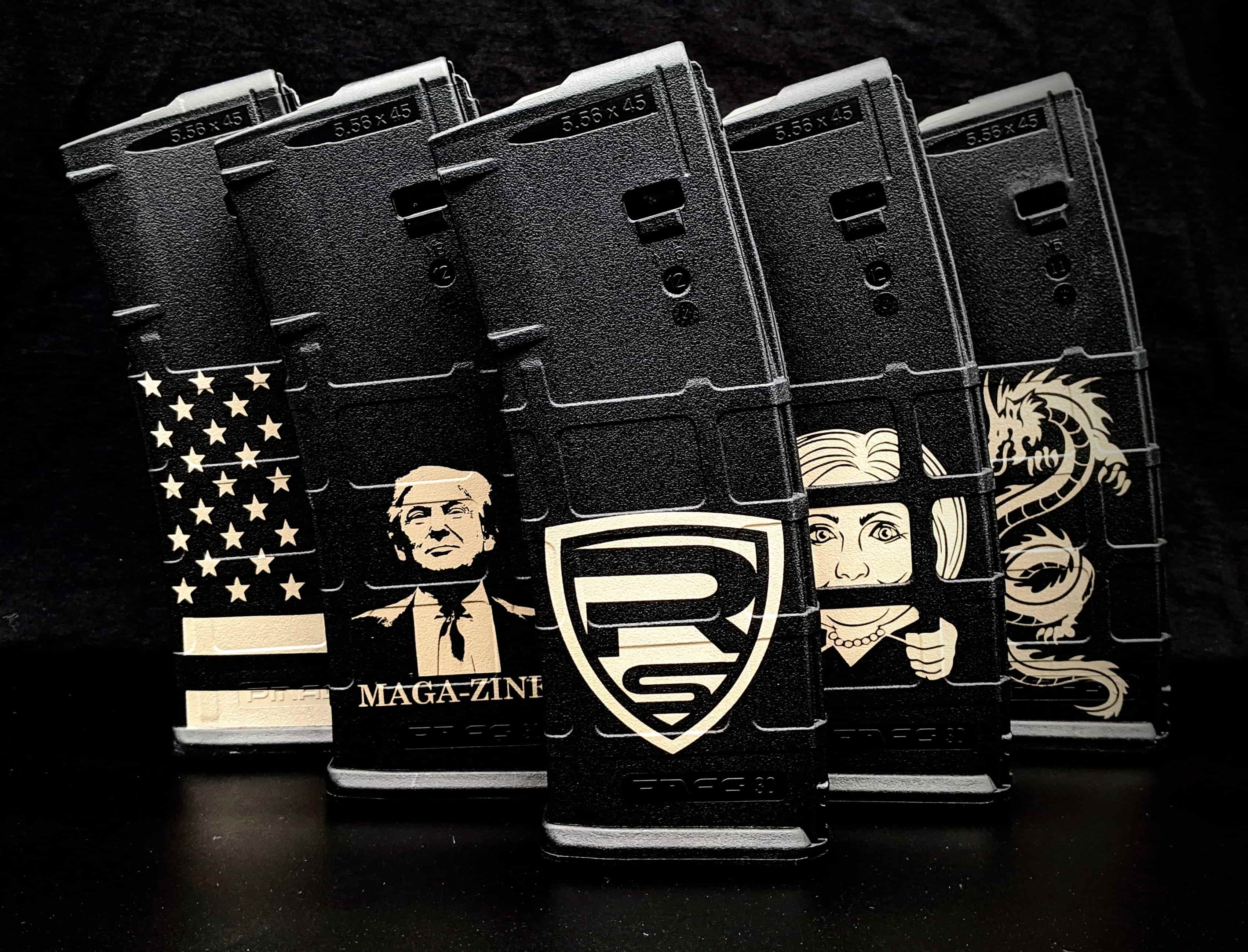 Engraved Rifle Magazines