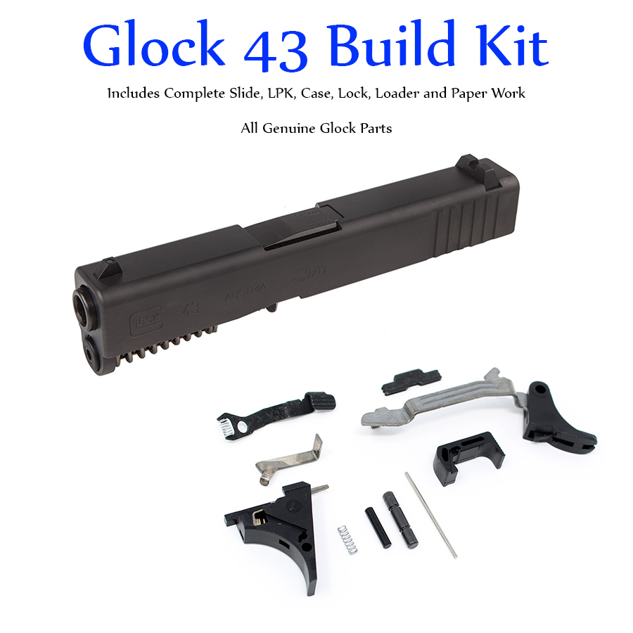 Glock 43 Build Kit - Single Stack 9mm Slide and Lower Parts Kit for SS80  Build