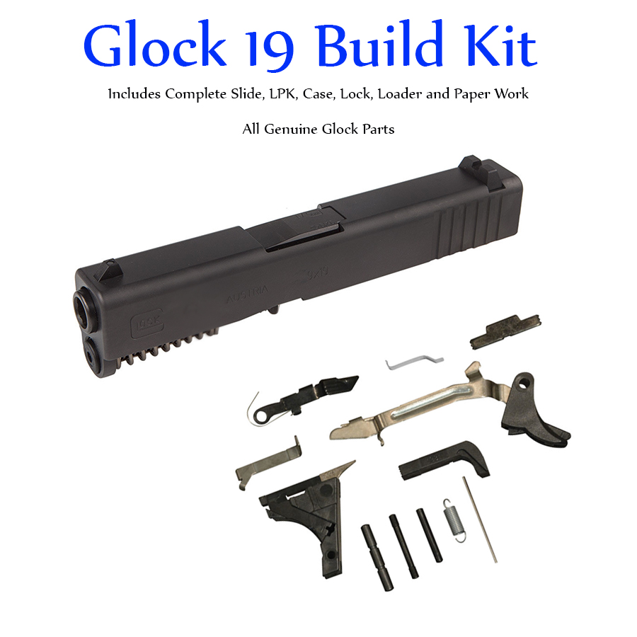 Glock 19 Gen 3 Build Kit - 9mm Slide and Lower Parts Kit