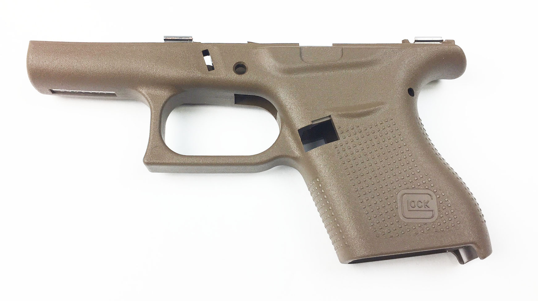 Glock 43 Stripped Frame - Factory Tan