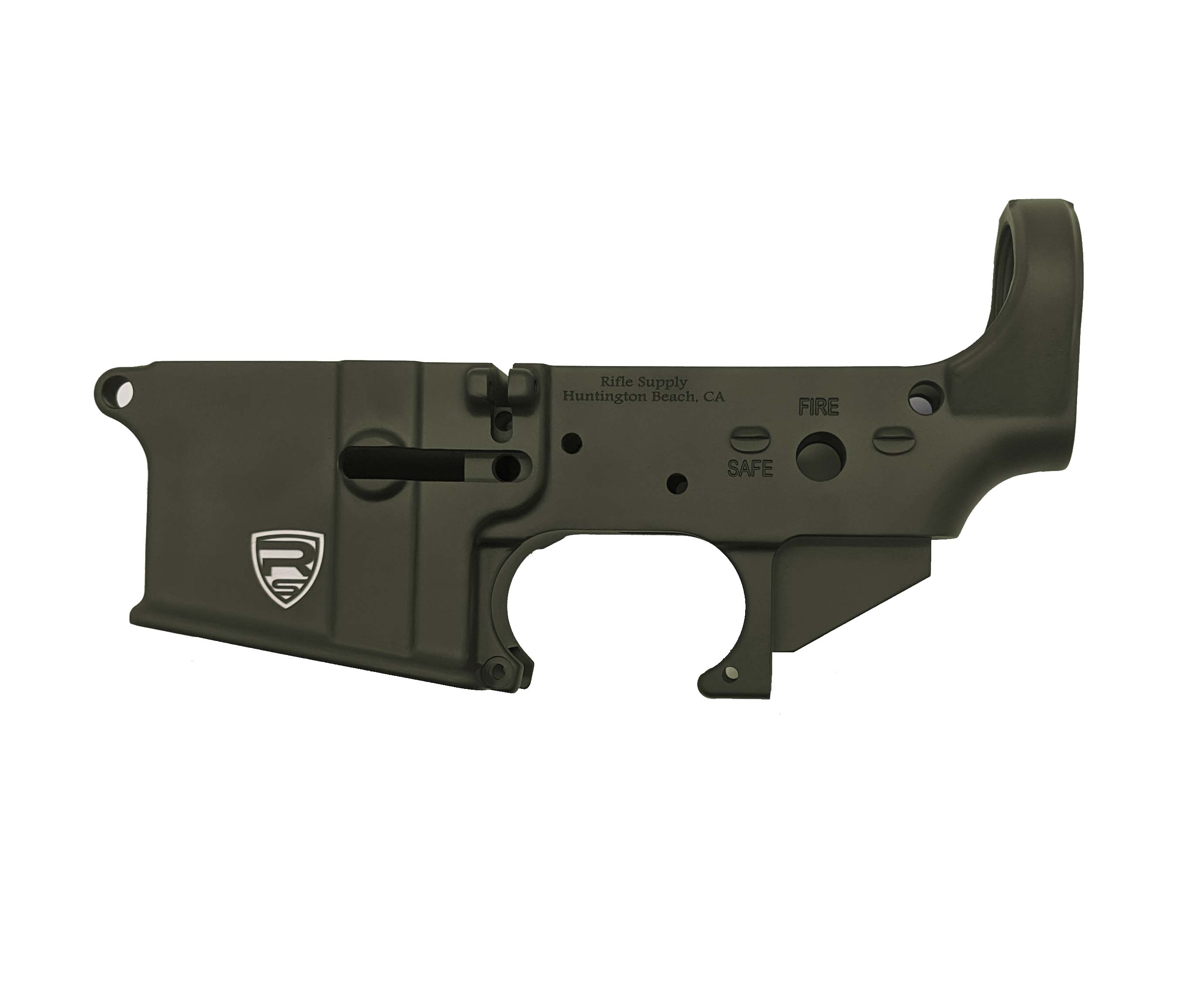 Rifle Supply Stripped Lower Receiver | ODG Cerakote | Small Crest