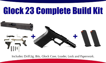 Glock 23 Polymer80 40 S&W Complete Build Kit