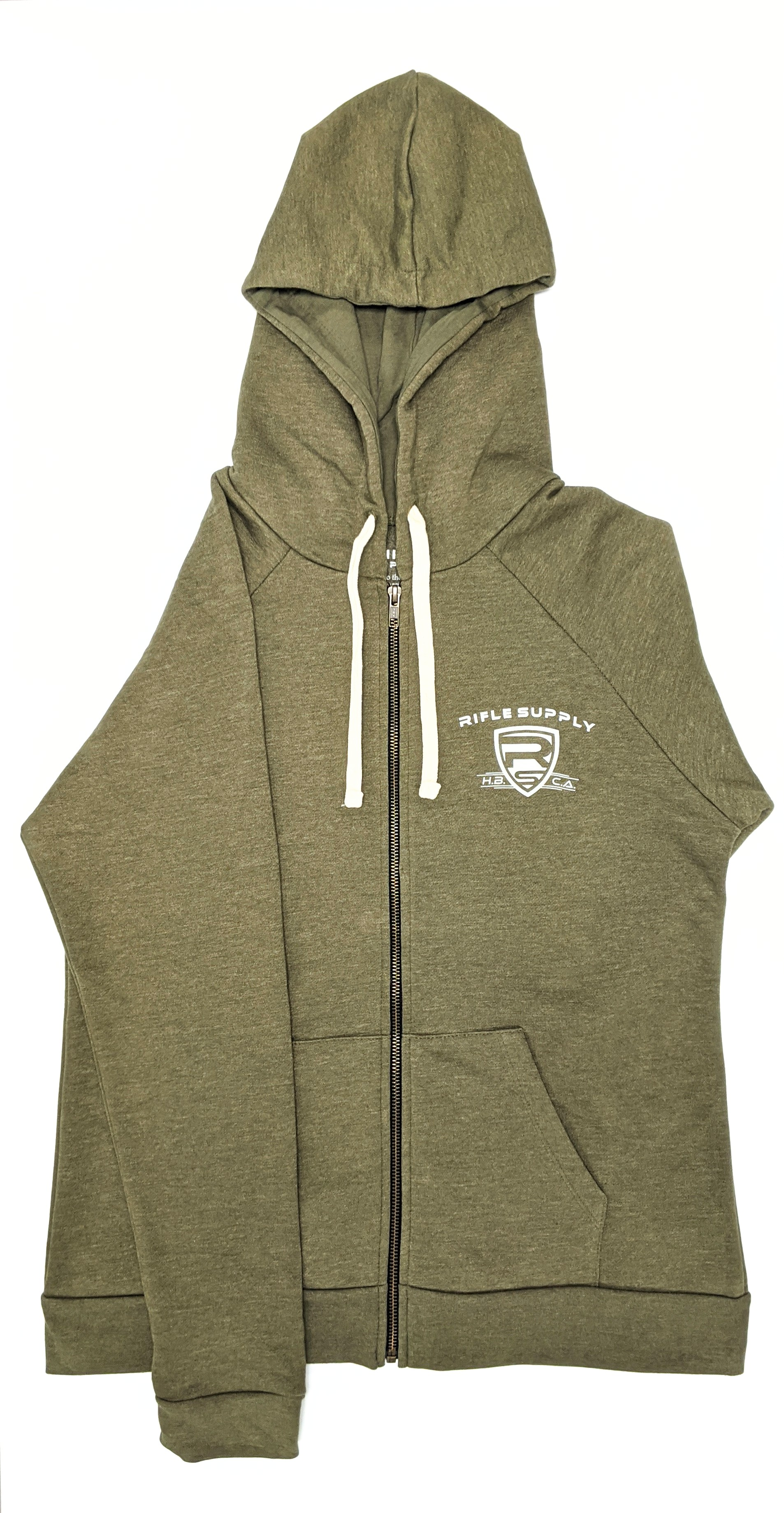 Rifle Supply Women's Zip-Up Hoodie - Heather Military Green