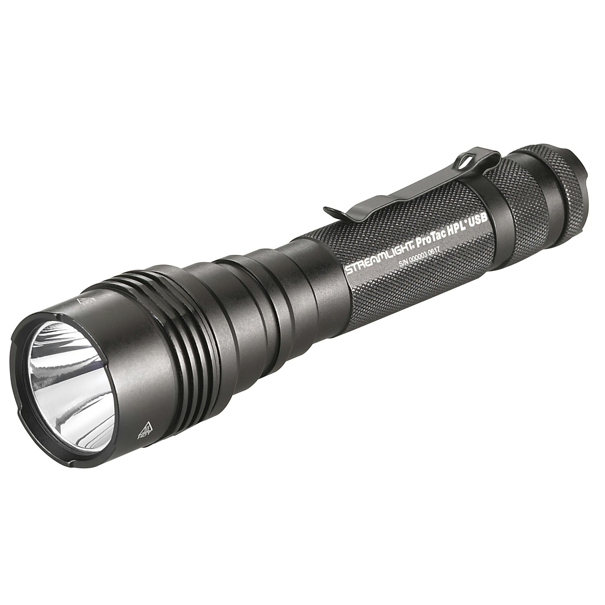 Streamlight Protac HPL 1000 Lumen Flashlight w/ USB Battery  Black