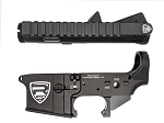 Rifle Supply Upper/Lower Receiver Set - Black Anodized - Large Crest