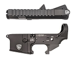 Rifle Supply Upper/Lower Receiver Set - Black Anodized - Small Crest