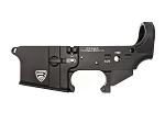 Rifle Supply Stripped Lower Receiver - Black Anodized - Small Engraved RS Crest