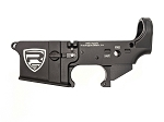 Rifle Supply Stripped Lower Receiver - Black Anodized - Large Engraved RS Crest