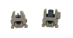 Rifle Front and Rear Flip-Up/Backup Sights (FDE)