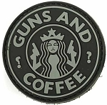 Guns and Coffee Patch - Black