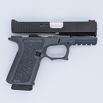 Complete Compact Pistol Build Kit |Gray Polymer80 Frame | Complete Slide | Lower Parts Kit | Magazine Included