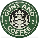 Guns and Coffee Patch - Green