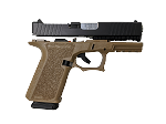 Custom Polymer80 Compact Build Kit / FDE P80 Frame / Upper and Lower Parts / Complete Slide