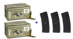 Federal Green Tip 62 gr x 300 Rounds and 3 Magpul PMAG 30 Rounds Magazines