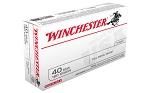 WINCHESTER USA 40SW 180GR FMJ 50 Rounds