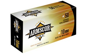 Armscor 10MM 180GR FMJ 50 Rounds