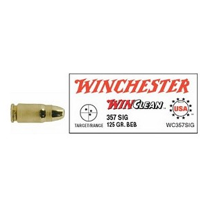 357 Sig - Super-X WinClean, 125 Grains, Brass Enclosed Base, Per 50