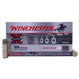 38 Special - WinClean, 125 Grain Jacketed Soft Point, Per 50