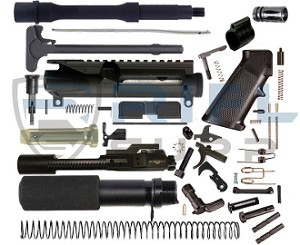 "AR-15 Complete 10.5"" Pistol Build Kit - .300 AAC Blackout"